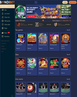 BondiBet Casino screenshot